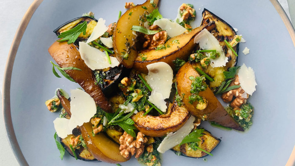 Forklift Provisions - Eggplant and Pear Salad