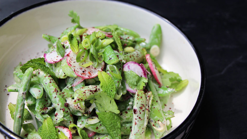 Forklift Provisions - Snap Pea and Radish Salad